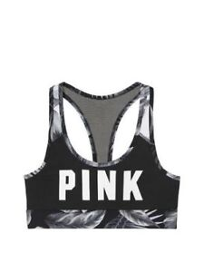 Victoria's secret Pink New Ultimate Sport Racerback Sport Bra Tropical Medium
