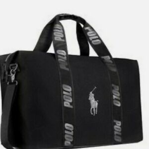BRAND NEW RALPH LAUREN WORLD OF POLO BLACK WEEKEND TRAVEL HOLDALL GYM SPORTS BAG
