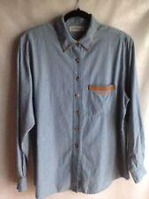 Bellepointe Blue Denim Shirt Longaberger Button Down L/S Top Blouse Size Large