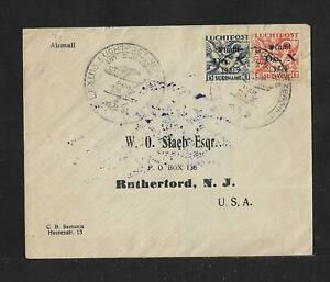 SURINAME DOX 10 AIR MAIL FLIGHT COVER TO USA 1931 SCARCE