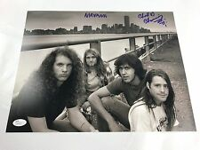 CHAD CHANNING w/ Kurt Cobain Autograph Nirvana 11x14 Photo JSA Bleach Signed