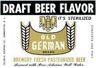 Old German Brand Draft Beer Label Vtg Drink Flavor Colonial Brewing Hammonton NJ