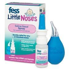 Fess Little Noses Saline Nose Spray + Aspirator for Newborns & Babies 15ml