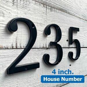 House Door Number Sign Plaque Digits Numbers Address Black Alphabet Large Home