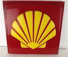 "Original Vintage Shell Gas Gasoline Station Repair Shop Advertising Sign 19""x19"""