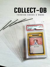 "50x Pokemon PSA Grading Graded Card ""Schutzhüllen"" Folien Karten Sleeve Case"
