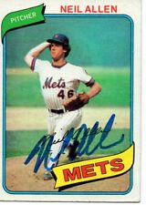 Neil Allen New York Mets 1980 Topps Rookie Signed Card