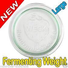 1 Glass Dunking Weight Food Fermenting Jars Large Sauerkraut Crock Lead BPA Free