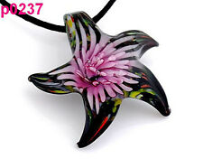 Starfish Lampwork Glass Pendant Necklace  p0237