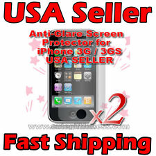 2x Apple iPhone 3G S 3GS Anti Glare Screen Protectors