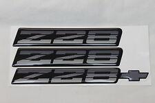 82-92 Camaro Z28 Tri Color Silver Rocker & Bumper Emblem Set of 3 New