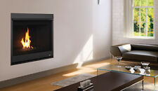 "Superior DRC 33"" Contemporary Gas Fireplace-Direct Vent Modern Glass Burner"