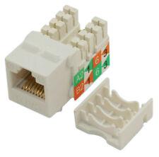 Wall plate: Keystone Jack SLIM TYPE - Cat 6 RJ-45 Networking  White