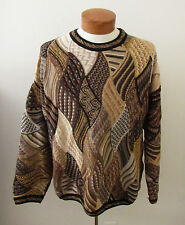 Mens TUNDRA Canada Multicolor Textured Cosby Style Sweater ~ Large