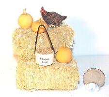 Dollhouse Miniature Farm Chicken Hay Bales Pumpkins A 1:12  H146 Dollys Gallery