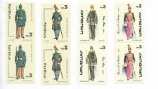 URUGUAY 1982 1983 MILITARY UNIFORMS ARMY DAY IN PAIRS MNH SC 1120/21 1105/6