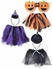 Ladies Halloween Tutu Kit Witch Pumpkin Halloween Fancy Dress Costume Outfit