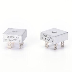 2x KBPC5010 50A 1000V caso de metal solo fases diodo rectificador de pue W9