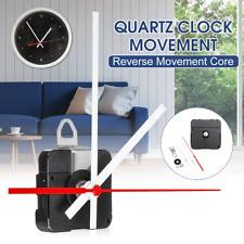 Backward Reverse Running Silent Clock Movement mechanism DIY Kit White Red