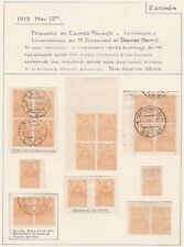 Estonia. May 1919 5p issue on Album Page. Mint and Used.