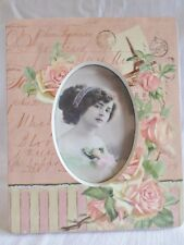Photo Frame French Shabby Chic Oval Aperture Roses Paris Shabby  21 x 17 x 2cm