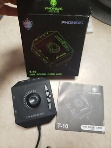PHOINIKAS USB External Stereo Sound Card  HUB T-10
