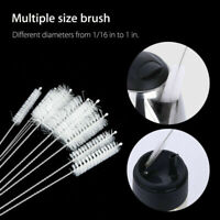 10Pc/set Cleaning Brush for Drinking Pipe Stainless Steel Nylon Straw Cleaners