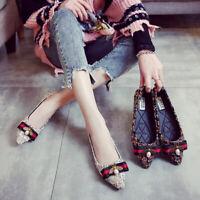 Vintage Plaid Flats Bellet Walking Plus Sz Driving Bee Strip Comfort Women Shoes