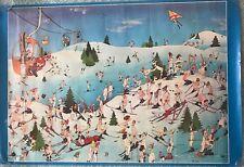 Vintage Original Roger Blachon Poster Nude Skiers Verkerke Productions 1977