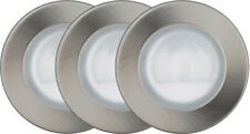 OBI-Hallogen Recessed Spots ip44 Nickel Brushed, Dimmable 3x gu4 20w Incl. Transformer