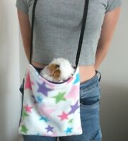 COZY PETS FLEECE BONDING POUCH CARRY BAG GUINEA PIG BED SNUGGLE CUDDLE CUP