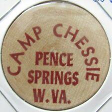 Vintage Camp Chessie Pence Springs, WV Wooden Nickel - Token West Virginia