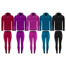 NEW 5 Colors Women Velvet Sweatsuit Outfit Jacket Pants ALL SIZES Hoodie Sweat