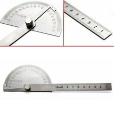 Sae Protractor 0 180 Rotary Angle Finder Stainless Steel Machinist Rulers Set
