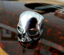 Large Solid Sterling Silver Skull Ring Keith Richards Style Handmade Any Size