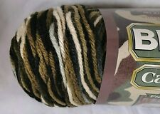 Bernat Camouflage Yarn Outback Variegated Brown Knitting Knit Crochet Worsted