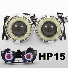 KT HID Projector Lens for Yamaha YZF R6 1999 2000 2002 LED Halo Eye Headlight