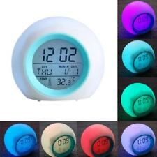 NIGHT LIGHT ALARM CLOCK color Changing LED Wake Up Light Natural Sounds