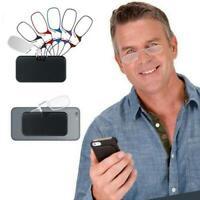 Flexible Portable Wallet Mini Reading Glasses Pocket Phone Nose Clip 3.0 2.0 1.0