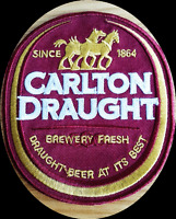 CARLTON DRAUGHT BEER CUB IRON ON SEW ON EMBROIDERED PATCH BADGE AUSTRALIAN BEER