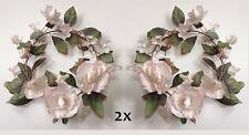 """2 PCS Cream Dried Flower Parchment 7.5"""" Opening Candle Ring Wall Wreath Craft"""