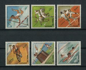 Portuguese India Portugal 1962 SPORTS NOT ISSUED complete set MNH, FVF