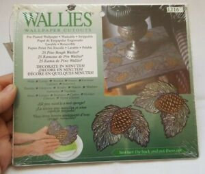 WALLIES WALLPAPER CUTOUTS 25X PINE BOUGH WALLIES SEALED