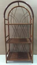 """Wood Round Arch Shelf Rack Rattan Ramin New """" Made in Germany """" Colour Oak"""