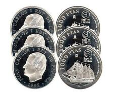 ESPAÑA: 1000 pesetas plata 1998 EXPO'98 LISBOA - Juan Sebastian el Cano