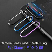 Camera Lens Tempered Glass Film Protector Metal Ring Case For Xiaomi Mi 9/9se