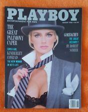 PLAYBOY MENS MAGAZINE AUGUST 1988 HELLE MICHALSEN KIMBERLEY CONRAD FIERSTEIN