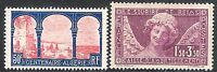 France 1930 Centenary red/blue 50c Sinking purple 1f.50 + 3f.50 mint SG479/480