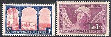 France 1930 Centenary red/blue 50c Sinking purple 1f.50 + 3f.50 mint SG479/480
