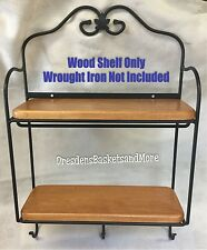 Custom Made Wood Shelves Only for the Longaberger Envelope Wrought Iron Rack